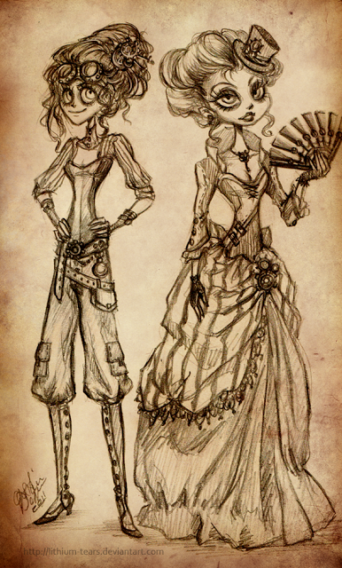 steampunk_ladies_by_lithium_tears-d4boki9